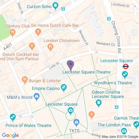 Leicester Square Theatre Karta