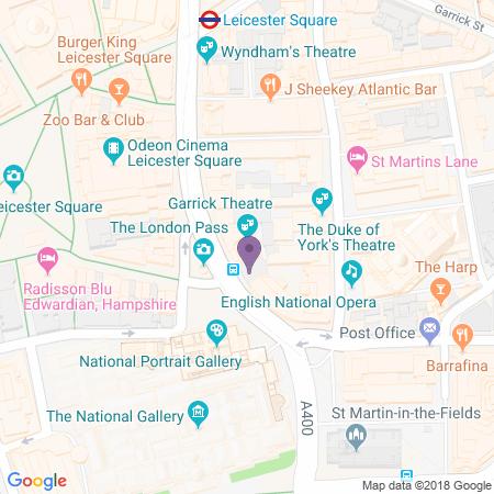 Garrick Theatre Karta