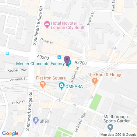 Menier Chocolate Factory Karta