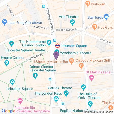 Wyndham's Theatre Karta