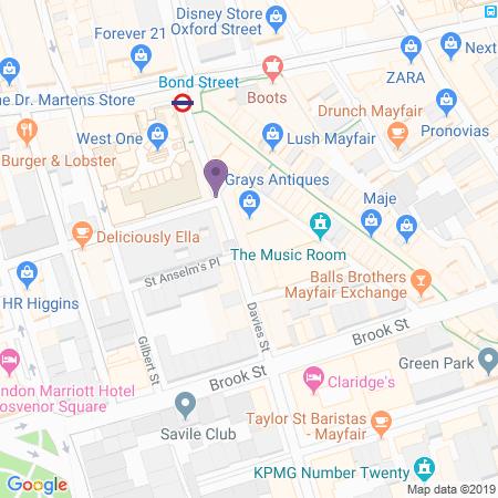 Gatsby's Mansion, Immersive London Karta