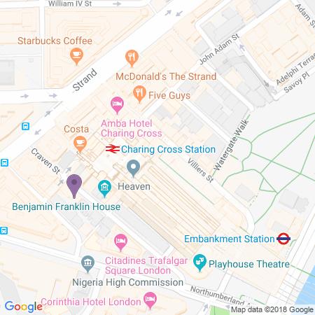 Charing Cross Theatre Karta