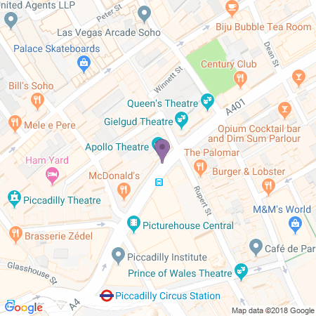 Apollo Theatre Karta