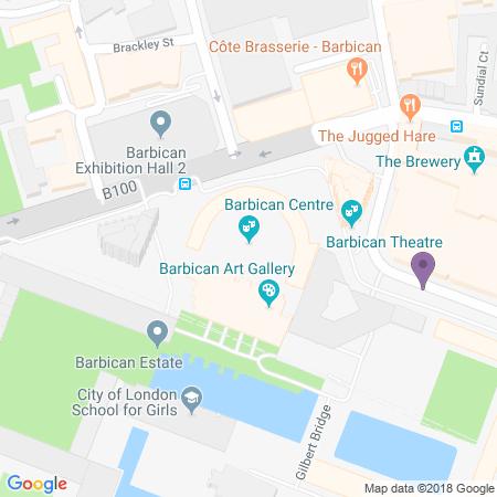 Barbican Theatre Karta