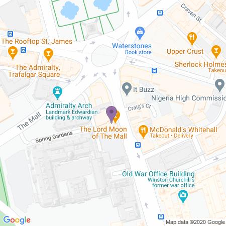 Trafalgar Theatre Karta