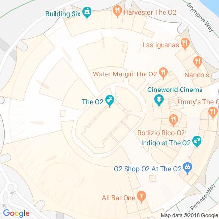 O2 Arena Karta