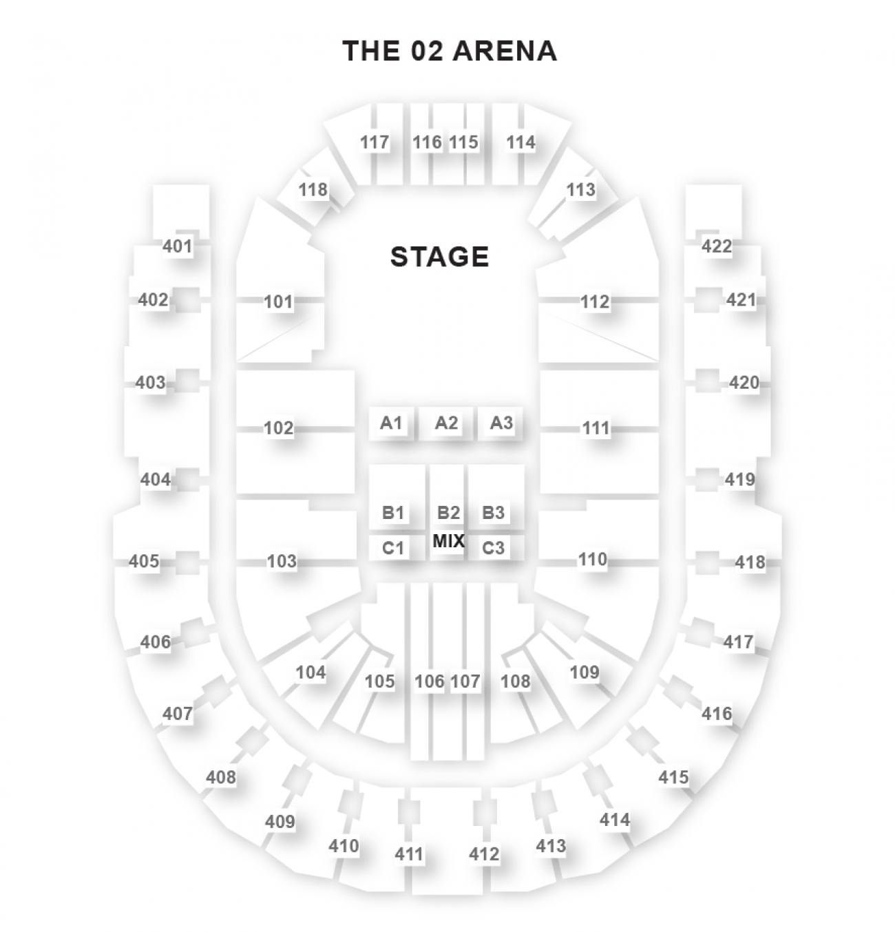 O2 Arena Platsöversikt
