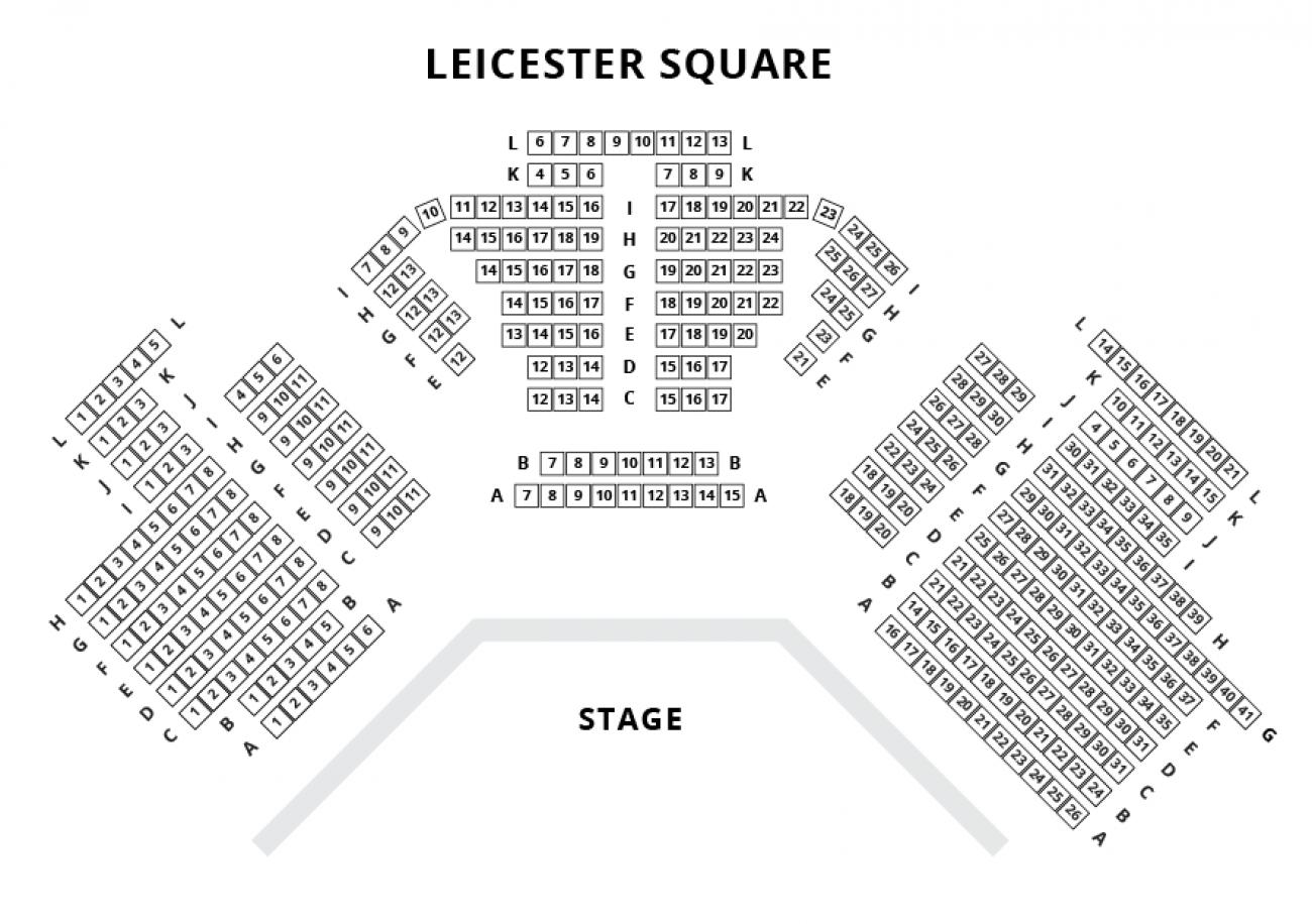 Leicester Square Theatre Platsöversikt